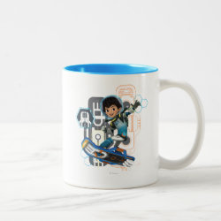 Miles Callisto On His Blastboard Graphic Two-Tone Coffee Mug