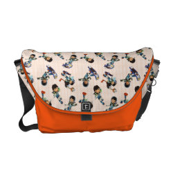 Rickshaw Medium Zero Messenger Bag with Miles from Tomorrowland Cute Pattern design