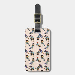 Small Luggage Tag with leather strap with Miles from Tomorrowland Cute Pattern design