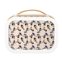 Orange yubo Lunch Box with Miles from Tomorrowland Cute Pattern design