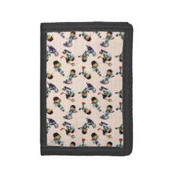 TriFold Nylon Wallet with Miles from Tomorrowland Cute Pattern design