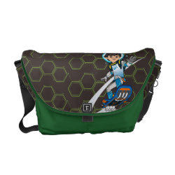 Rickshaw Medium Zero Messenger Bag with Miles Callisto riding his Blastboard design