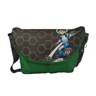 Miles Callisto Riding His Blastboard Courier Bag