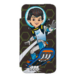 Incipio Watson™ iPhone 5/5s Wallet Case with Miles Callisto riding his Blastboard design