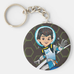 Basic Button Keychain with Miles Callisto riding his Blastboard design