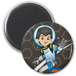 Round Magnet with Miles Callisto riding his Blastboard design