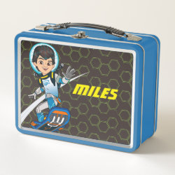Metal Lunch Box with Miles Callisto riding his Blastboard design