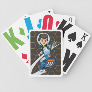 Miles Callisto Riding His Blastboard Bicycle Playing Cards