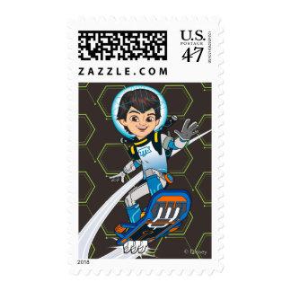 Miles Callisto Riding His Blastboard Postage