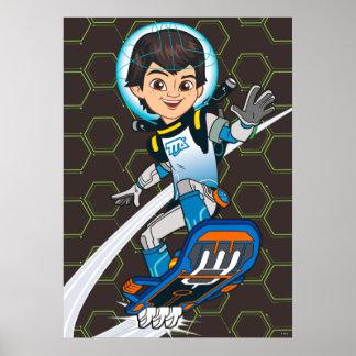 Miles Callisto Riding His Blastboard Poster