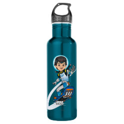 Water Bottle (24 oz) with Miles Callisto riding his Blastboard design
