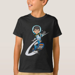 Kids' Hanes TAGLESS® T-Shirt with Miles Callisto riding his Blastboard design