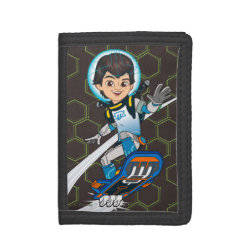 TriFold Nylon Wallet with Miles Callisto riding his Blastboard design