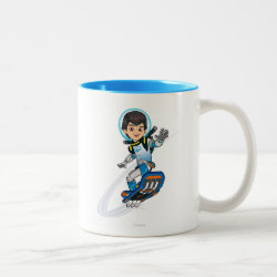 Two-Tone Mug with Miles Callisto riding his Blastboard design