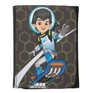 Miles Callisto Riding His Blastboard Leather Trifold Wallets