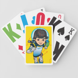 Playing Cards with Cartoon Miles Callisto Running design