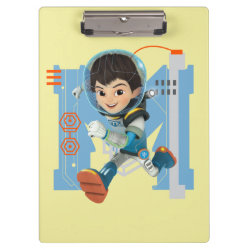 Clipboard with Miles Callisto from Tomorrowland design