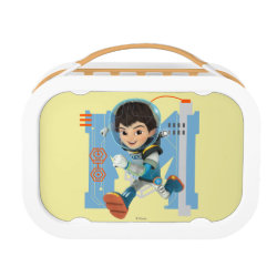 Orange yubo Lunch Box with Miles Callisto from Tomorrowland design