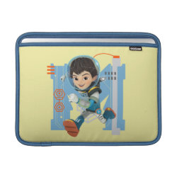 Macbook Air Sleeve with Miles Callisto from Tomorrowland design