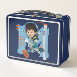 Metal Lunch Box with Miles Callisto from Tomorrowland design