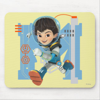 Miles Callisto Running - Circuitry Graphic Mouse Pad
