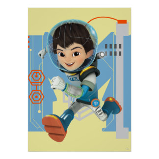 Miles Callisto Running - Circuitry Graphic Poster