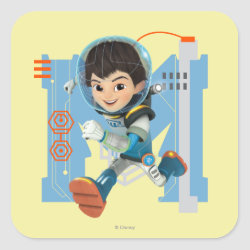 Square Sticker with Miles Callisto from Tomorrowland design