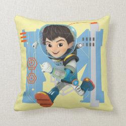 Cotton Throw Pillow with Miles Callisto from Tomorrowland design