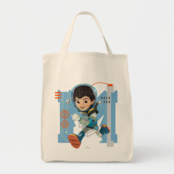 Grocery Tote with Miles Callisto from Tomorrowland design