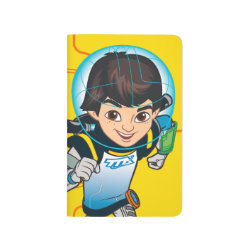 Pocket Journal with Cartoon Miles Callisto Running design