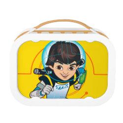 Orange yubo Lunch Box with Cartoon Miles Callisto Running design