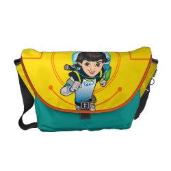 Rickshaw Medium Zero Messenger Bag with Cartoon Miles Callisto Running design