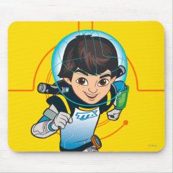 Mousepad with Cartoon Miles Callisto Running design