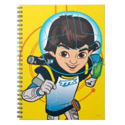 Photo Notebook (6.5' x 8.75', 80 Pages B&W) with Cartoon Miles Callisto Running design