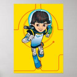Matte Poster with Cartoon Miles Callisto Running design