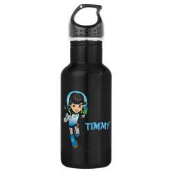 Water Bottle (24 oz) with Cartoon Miles Callisto Running design