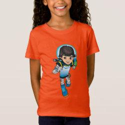 Girls' Fine Jersey T-Shirt with Cartoon Miles Callisto Running design
