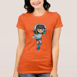 Women's Bella Jersey T-Shirt with Cartoon Miles Callisto Running design