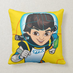 Cotton Throw Pillow with Cartoon Miles Callisto Running design