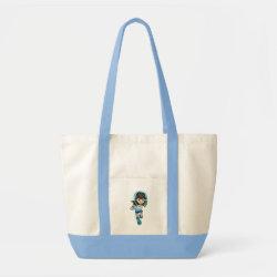 Impulse Tote Bag with Cartoon Miles Callisto Running design