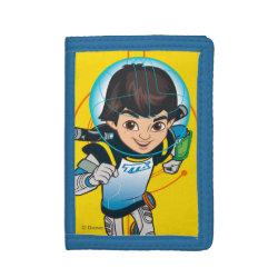 TriFold Nylon Wallet with Cartoon Miles Callisto Running design