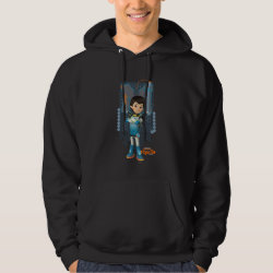 Men's Basic Hooded Sweatshirt with Miles Callisto Space Explorer design