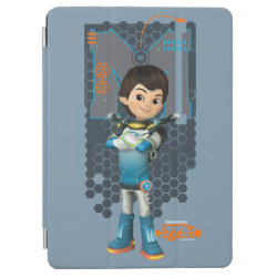 iPad Air Cover with Miles Callisto Space Explorer design