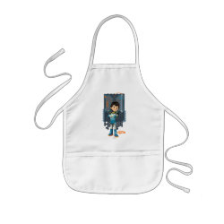 Kid's Apron with Miles Callisto Space Explorer design