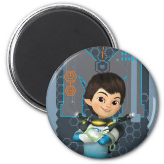 Miles Callisto Tech Graphic 2 Inch Round Magnet