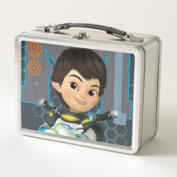 Metal Lunch Box with Miles Callisto Space Explorer design