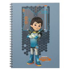 Photo Notebook (6.5' x 8.75', 80 Pages B&W) with Miles Callisto Space Explorer design