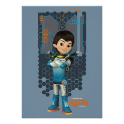 Matte Poster with Miles Callisto Space Explorer design