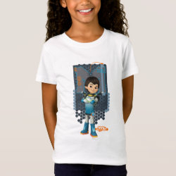 Girls' Fine Jersey T-Shirt with Miles Callisto Space Explorer design
