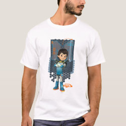 Men's Basic T-Shirt with Miles Callisto Space Explorer design